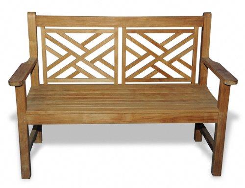 GOLDENTEAK Teak Bench Chippendale 4ft ()