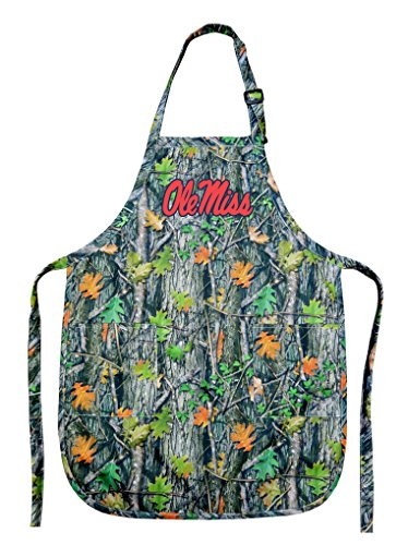 Broad Bay Ole Miss Apron CAMO University of Mississippi Gift for Men Women Grilling