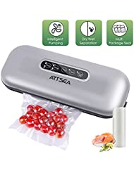 Vacuum Sealer ARTSEA, Automatic Vacuum Sealing System, Dry & Moist Mode for Food Save and Sous Vide, Vacuum Sealer Kit with Roll of Vacuum Bags