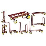 Rock-N-Roller R2RT-RD (Micro) 8-in-1 Folding Multi-Cart/Hand Truck/Dolly/Platform Cart/26' to 39' Telescoping Frame/350 lbs. Load Capacity, Red