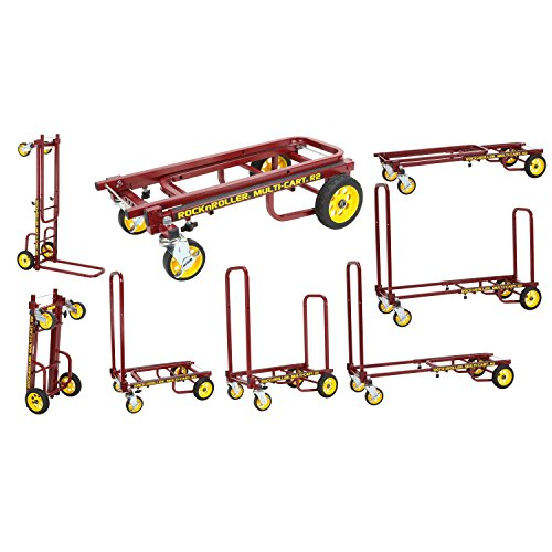 Rock-N-Roller R2RT-RD (Micro) 8-in-1 Folding Multi-Cart/Hand Truck/Dolly/Platform Cart/26