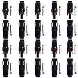 BTSKY® 10 Pairs of HC4-PV10C HC4-PV10C MC4 Male/Female Solar Panel cable Connectors