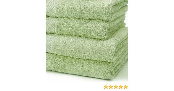 Linens Limited Toalla de baño (100% algodón turco toalla de baño, luz verde: Amazon.es: Hogar