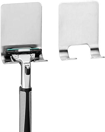 Soporte de pared de acero inoxidable para maquinilla de afeitar ...
