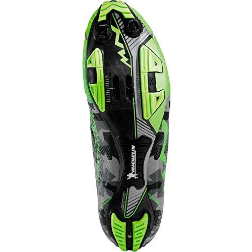 Scarpe MTB Northwave EXTREME XC Reflective Camo/Green Fluo Size 41