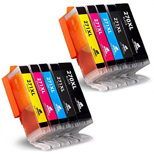 IKONG 10-Pack Ink Cartridge for Canon PGI-270XL CLI-271XL (2 Big Black, 2 Small Black, 2 Cyan, 2 Magenta, 2 Yellow) Works with Canon PIXMA MG5722 MG5721 MG5720 MG6822 MG6821 MG6820 TS5020 TS6020