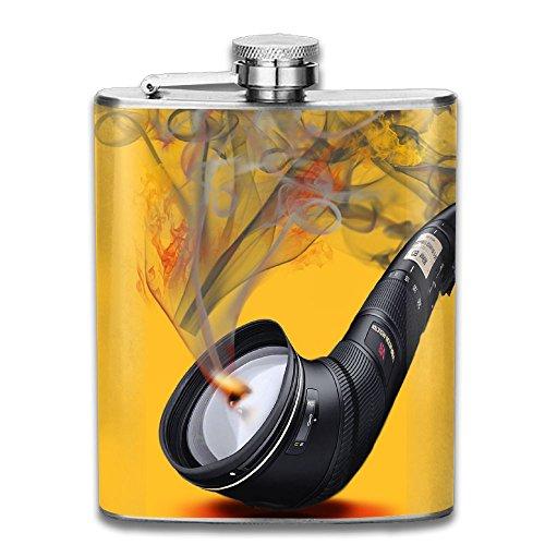 (Hip Flask For Liquor Men's Creative Cigarette Holder Stainless Steel Bottle Unisex)
