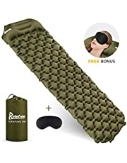 Relefree Inflatable Pad, Inflatable Sleeping Mat with Pillow Ultralight Folding Camping Air Mattress For Outdoor Tent Sleeping Bag and Backpacking Hiking Camping Sleeping