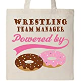 Inktastic - Wrestling Team Manager Humor Tote Bag Natural e608