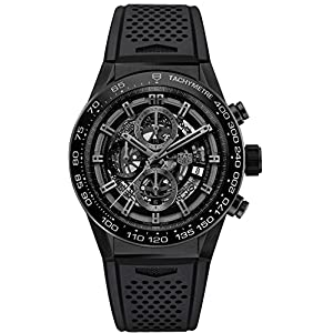 TAG Heuer Carrera Matte Black Ceramic on Rubber Strap Men's Watch CAR2A91.FT6071