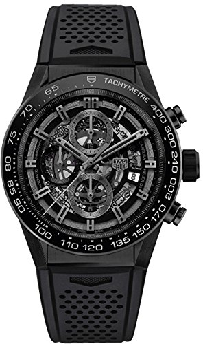 Tag Heuer Carrera Black Dial Automatic Mens Chronograph Watch CAR2A91.FT6071