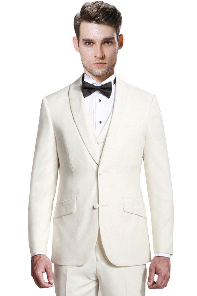 Hanayome Men's Regular Fit 3 Pieces Blazer Tuxedo Vest & Trousers U83 U83USA1