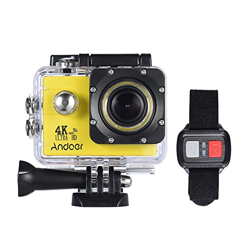 Andoer AN4000 WiFi 4K 30fps 16MP Action Sports Camera 1080P 60fps Full HD 4X Zoom Waterproof 40m 2