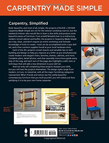 23 Stylish Projects • Learn as You Build Black /& Decker Carpentry Made Simple