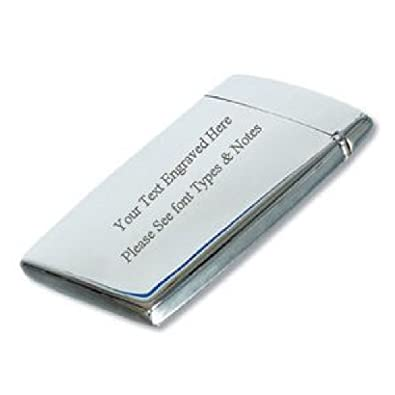 Personalised stainless steel business card holder flip top free personalised stainless steel business card holder flip top free engraving on the case reheart Images