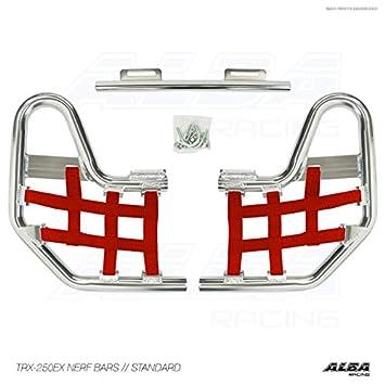 Honda TRX 250EX, TRX250EX SPORTRAX (2001-2008) Standard Nerf Bars Silver Bars w/Black Net Alba Racing