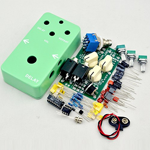 TTONE DIY electric Guitar Delay Effect Pedal kit true bypass+stom box 1590B Green enclosure Guitarra Effect Pedal TTONE by TTONE