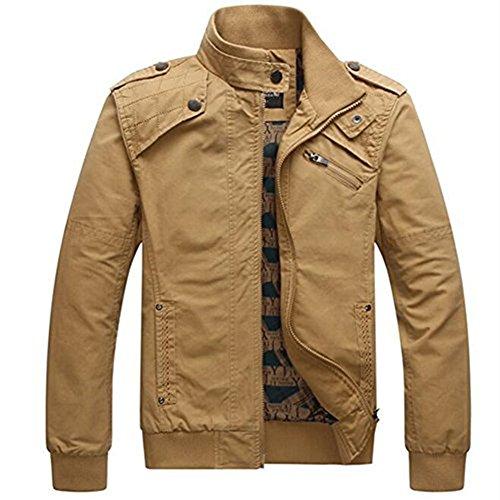 Et Style En Manteau Vert Militaire Veste Homme Col Court Automne Blousons Printemps Newbestyle wEqH4n0TE