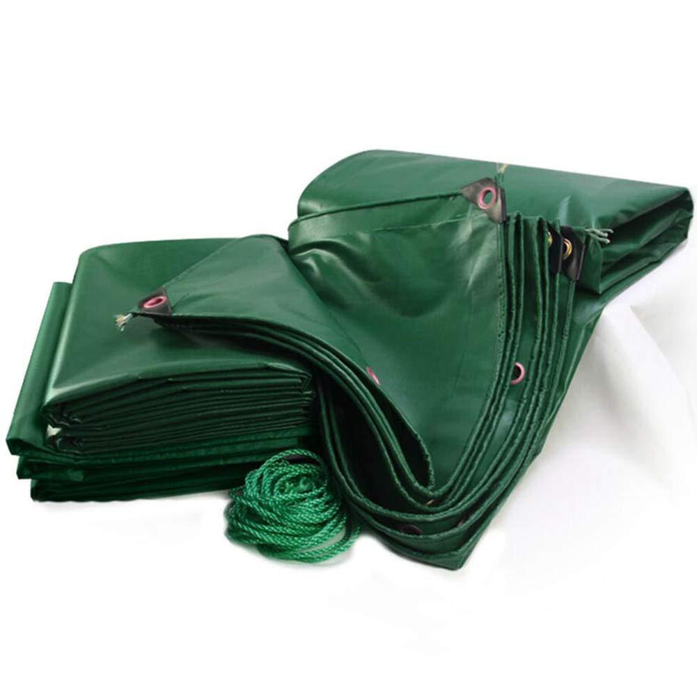 ZHANWEI ターポリンタープ 厚くする PVC トラック レインプルーフ 緑 オーニング、 450g /㎡ カスタマイズ可能なサイズ (色 : 緑, サイズ さいず : 4.8x2.8m) 4.8x2.8m 緑 B07Q7VX5LW