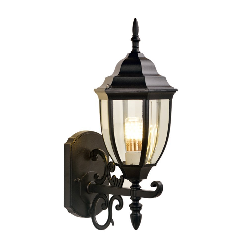 DengWu lampada da parete Continental impermeabile lampade outdoor retrò outdoor luci a parete corsia lampada cortile americano scala balcone terrazza esterna (220430mm) lampade