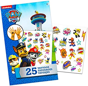 Paw Patrol Backpack for Boys Bundle ~ Premium 11 Paw Patrol Mini School Bag for Toddlers with Stickers and Tattoos Paw Patrol School Supplies
