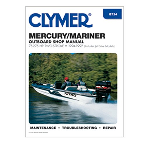 Clymer Mercury/Mariner 75-275 HP Two-Stroke Outboards (Includes Jet Drive Models) (1994-1997) Marine , Boating Equipment - Jet Drive Models