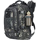 PANS Backpack Work Backpack School Backpack Expandable Large,Molle System,Durable for Men for Hiking Camping Sports and Travel (Black)