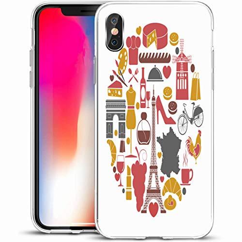 Ahawoso Slim Protective Phone Case for iPhone X/XS 5.8