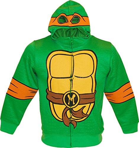 (Teenage Mutant Ninja Turtles MIKE Reptilian Print Costume Hoodie (Boys)