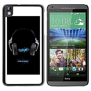 TopCaseStore / la caja del caucho duro de la cubierta de protección de la piel - Music Live 4 Music - HTC DESIRE 816