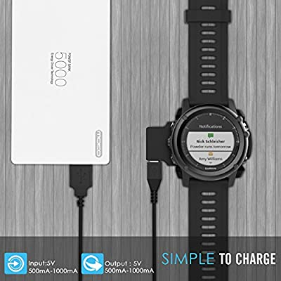 Amazon.com: MoKo Garmin Fenix 3 HR Cargador, cable de carga ...