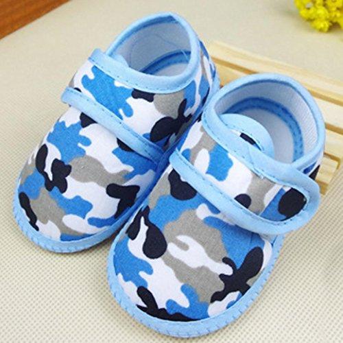 Tefamore Zapatos Bebe De Primeros Pasos Calzado De Estilo Camuflaje Pequeñas Botas Para Primeros Caminantes(Colores Opcional