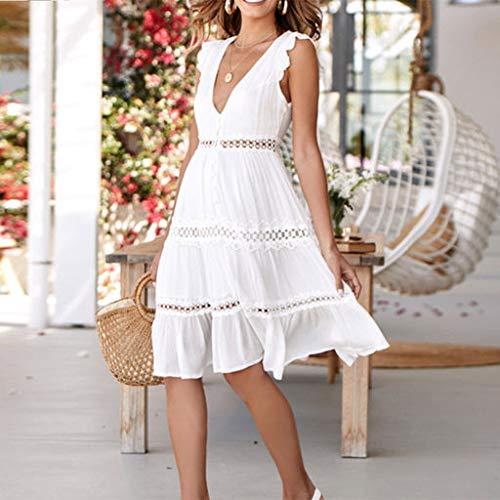 Amazon.com: Cathy Clara - Vestido de fiesta casual sin ...
