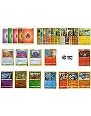 Pokemon-kaarten Duits 50 verschillende Pokémonkaarten 3 zeldzame - 3 holo - 1 willekeurige Pikachu of Glumanda kaart originele Pokemon-kaarten actuele sets + 100 Heartforcards® Card Guard kaartenhoezen