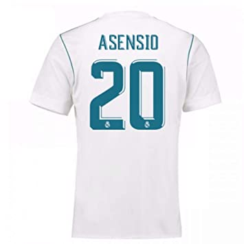 d600489d979 2017-18 Real Madrid Home Football Soccer T-Shirt - Kids (Marco Asensio 20)   Amazon.co.uk  Sports   Outdoors