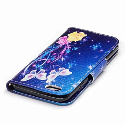 Yiizy handyhülle Apple IPhone 6 Plus / IPhone 6s Plus hülle, Bunter Schmetterling Tasche Leder Schutzhülle PU Ledertasche Bumper Schutz Flip Cover Case Magnet Beutel Klappe Silikon Gummi huelle Schale