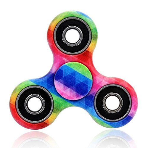 Hot Sale! AMA(TM) Anti-stress Fidget Hands Spinner Fingertip Bearing Toy EDC Focus Decompression Gyro (Big Bad Wolf Makeup)