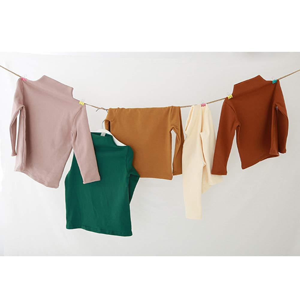 YOHA Girls Spring Turtleneck Top Blouse Shirt Long Sleeve Toddler Casual Shirt