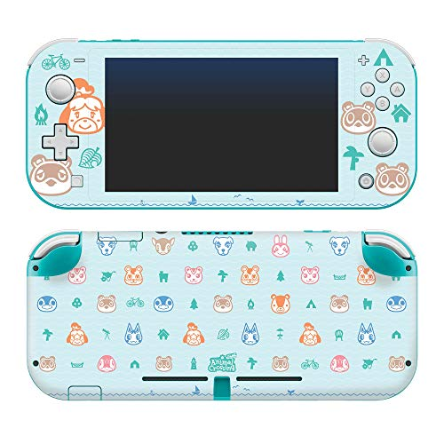"🥇 Controller Gear Authentic and Officially Licensed Animal Crossing: New Horizons – ""Outdoor Pattern"" Nintendo Switch Lite Skin"