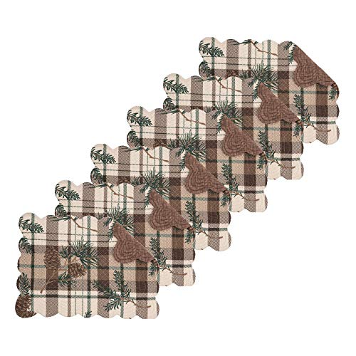 (C&F Home Lookout Lodge Rectangular Cotton Quilted Reversible Set of 6 Rectangular Placemat Set of 6 Tan)