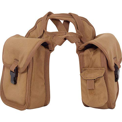 Cashel Quality Deluxe Small Horse Saddle Pommel Horn Bag, Padded Pockets, Camera or Cell Phone Pocket, 600 Denier Material, Size: Small Color: Brown