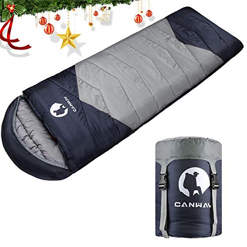 with Compression Sack, Lightweight and Waterproof for Warm & Cold Weather, Comfort for 4 Seasons Camping/Traveling/Hiking/Backpacking, Adults & Kids ()