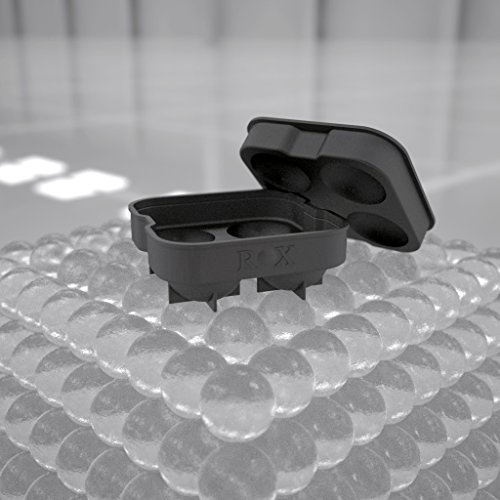 Rox Ice Ball Maker - 4 x 4.5 cm 4 Sphere Mold Ice Cube Tray. Ice Press Alternative (single pack)