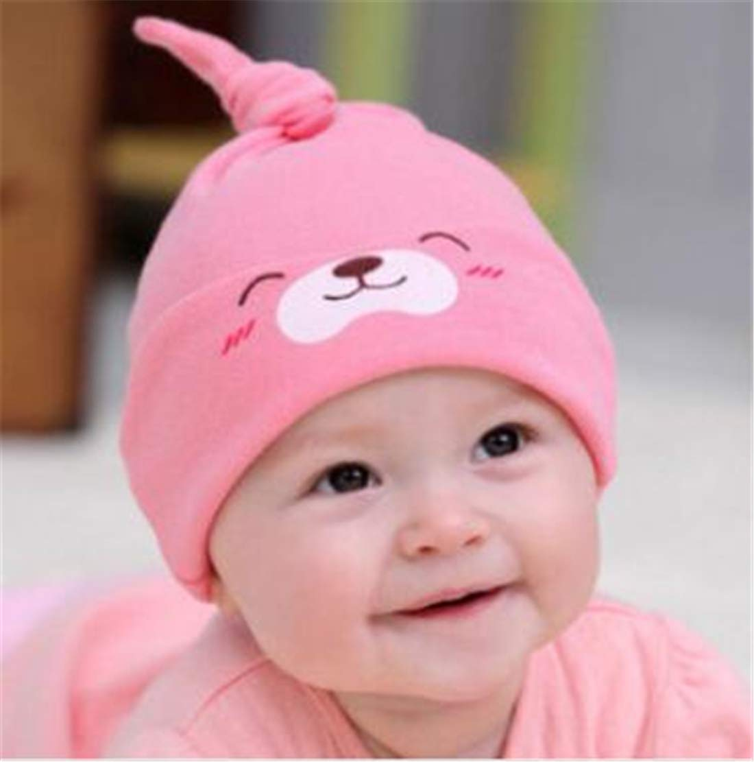 Tmrow 1PC Baby Fashion Hedging Hat Autumn/Winter Knitted Cap For Kids,Yellow