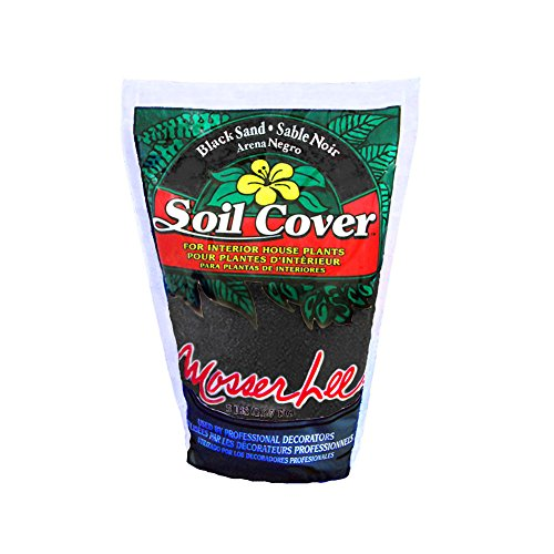 Mosser Lee ML1112 Black Sand Soil Cover, 5 lb. (Cover Indoor Soil Plant)