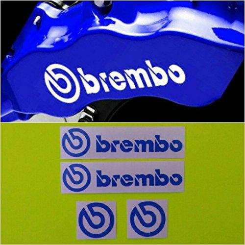 R&G Brembo HIGH TEMP Brake Caliper Decals Sticker and Logos Set of 4 (Logo Brake)