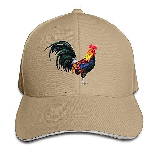 Creative The Lifelike Rooster Chicken Fashion Design Unisex Cotton Sandwich Peaked Cap Adjustable Baseball Caps Hats -