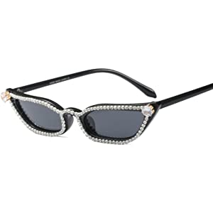 8a022d0ee0 Rhinestone Sunglasses Cat Eye Women Luxury Small Sun Glasses Women Beach  Summer