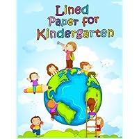 Papel rayado para jardín de infantes: cuaderno cuaderno páginas alineadas