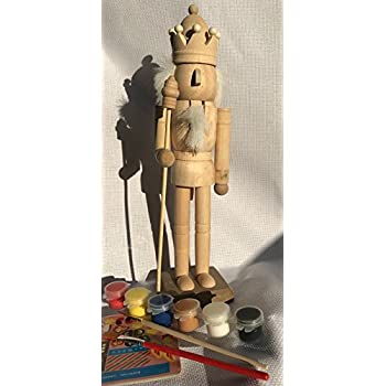 Amazon paint your own nutcracker drummer by masterpieces toys paint your own nutcrackers handmade 30cm tall unpainted unassemblyed nutcrackers solutioingenieria Image collections